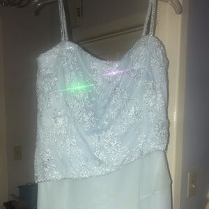Dresses & Skirts - Pale blue sequined gown